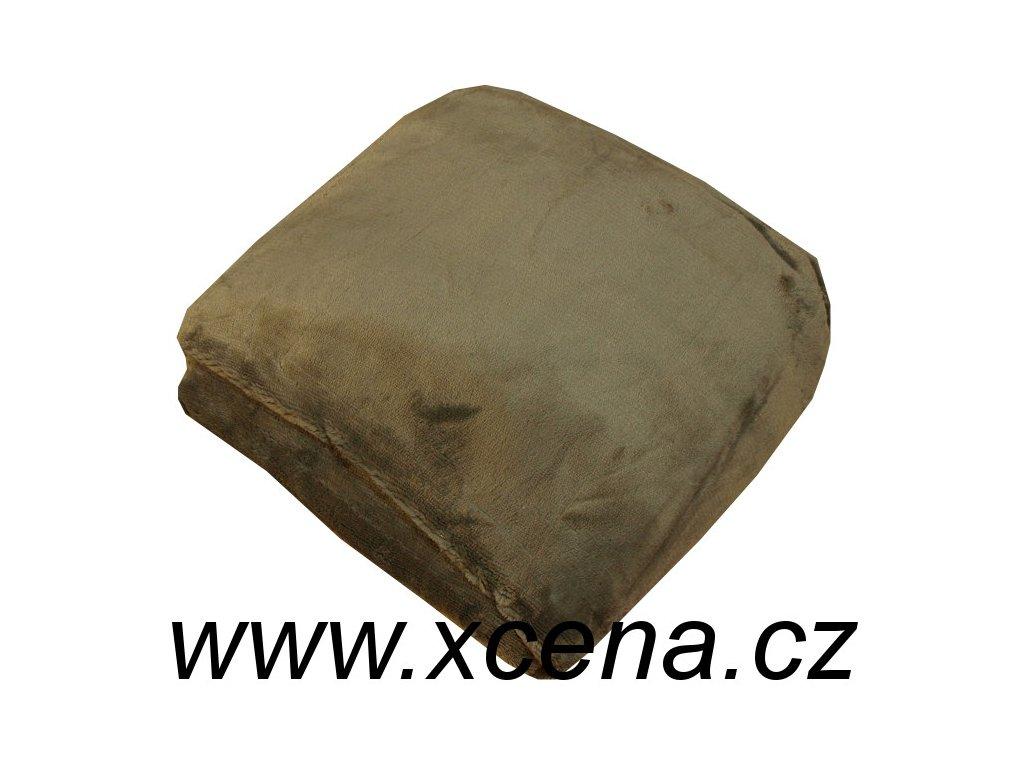 Mikroplyšové prostěradlo šedé 90/200 cm