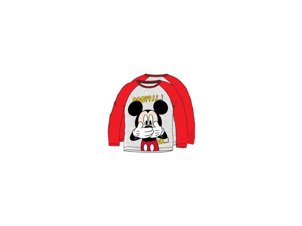 Tričko, triko s Mickey Mouse šedé s červenou