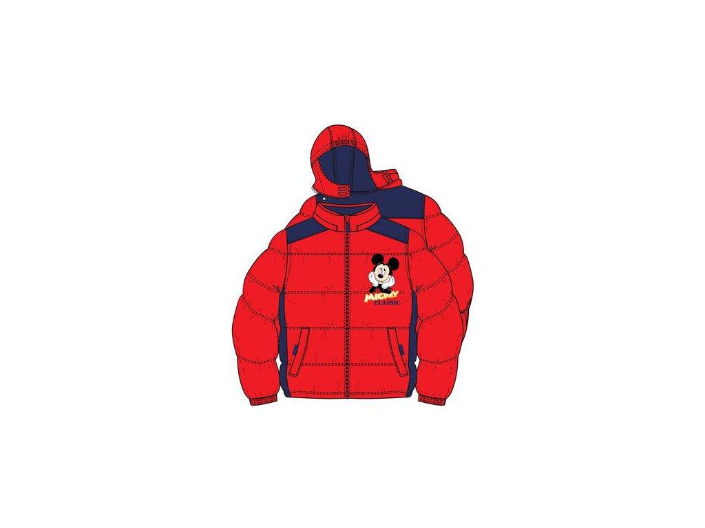 Bunda s Mickey Mouse červená nová kolekce