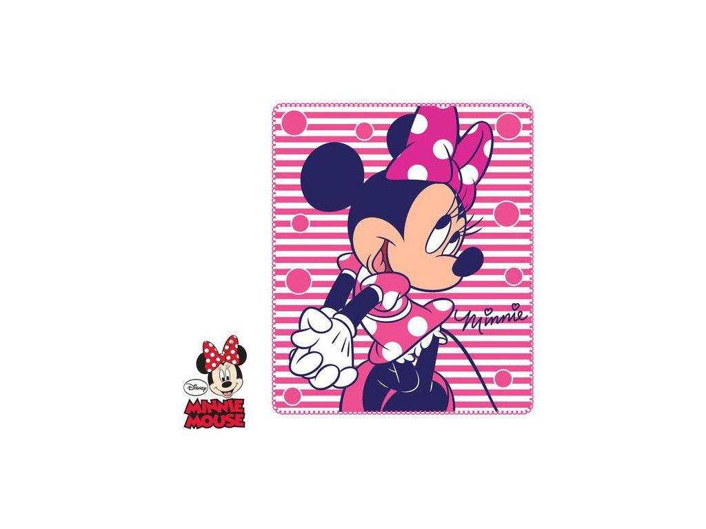 Deka flízová dětská s Minnie Mouse