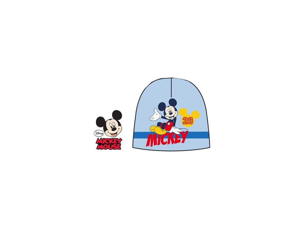 Dětská zimní čepice s Mickey Mouse světle modrá