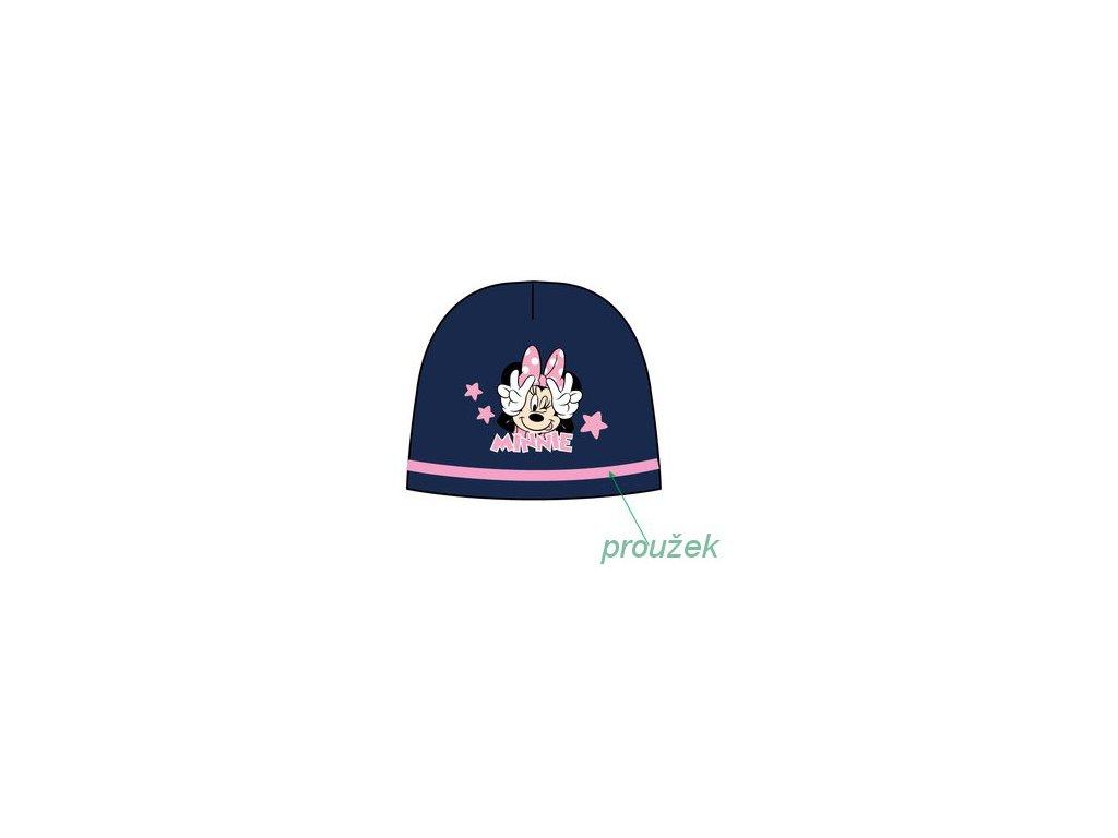Čepice s Minnie Mouse modrá s růžovou