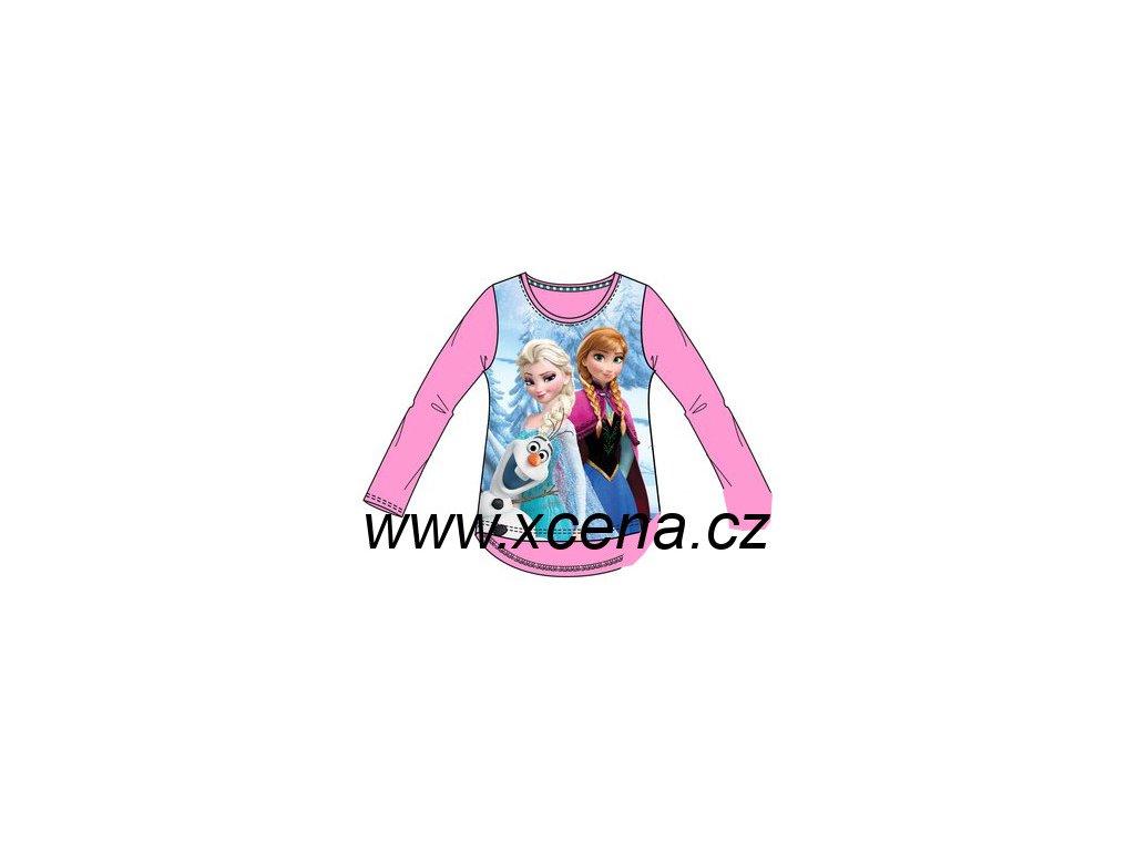 Frozen Anna Elsa trička růžové