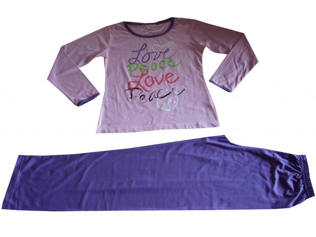 Dámské, dívčí pyžamo růžovofialové
