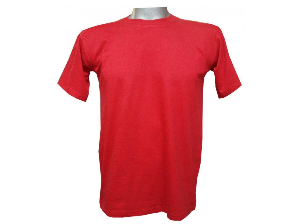 Dětské bavlněné tričko červené