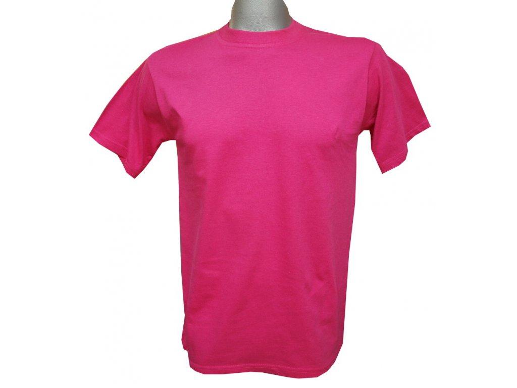 Dětské bavlněné tričko růžové