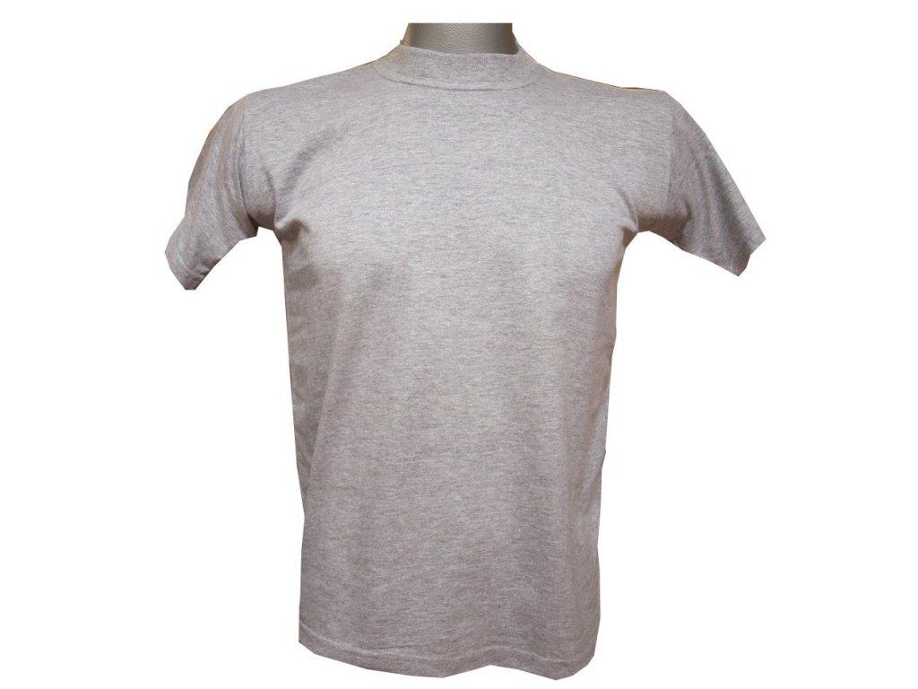 Dětské trička bavlněné šedé