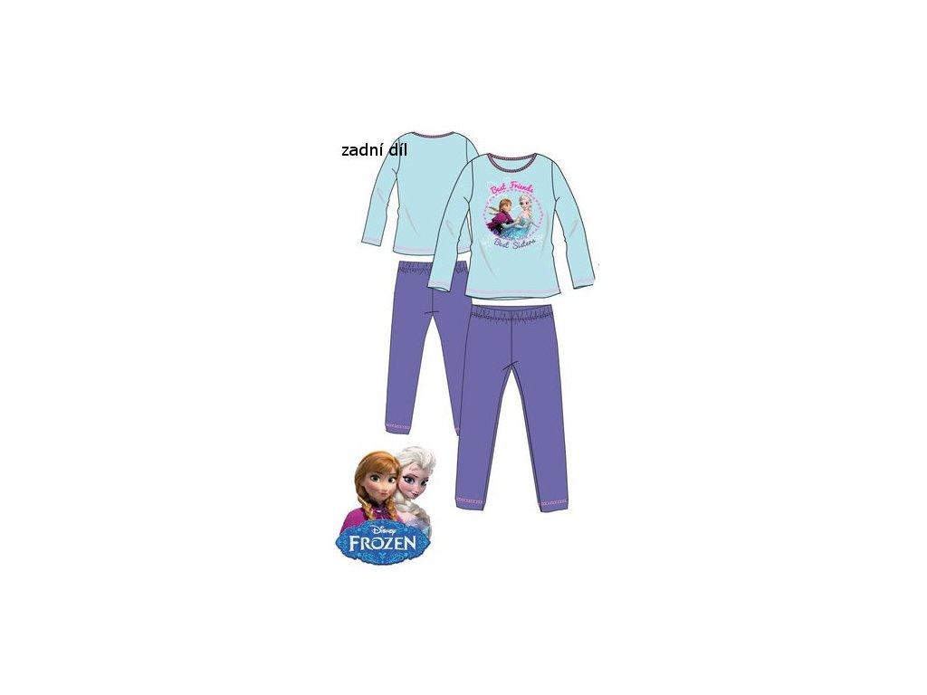 Ledové království Anna a Elsa pyžamo modré