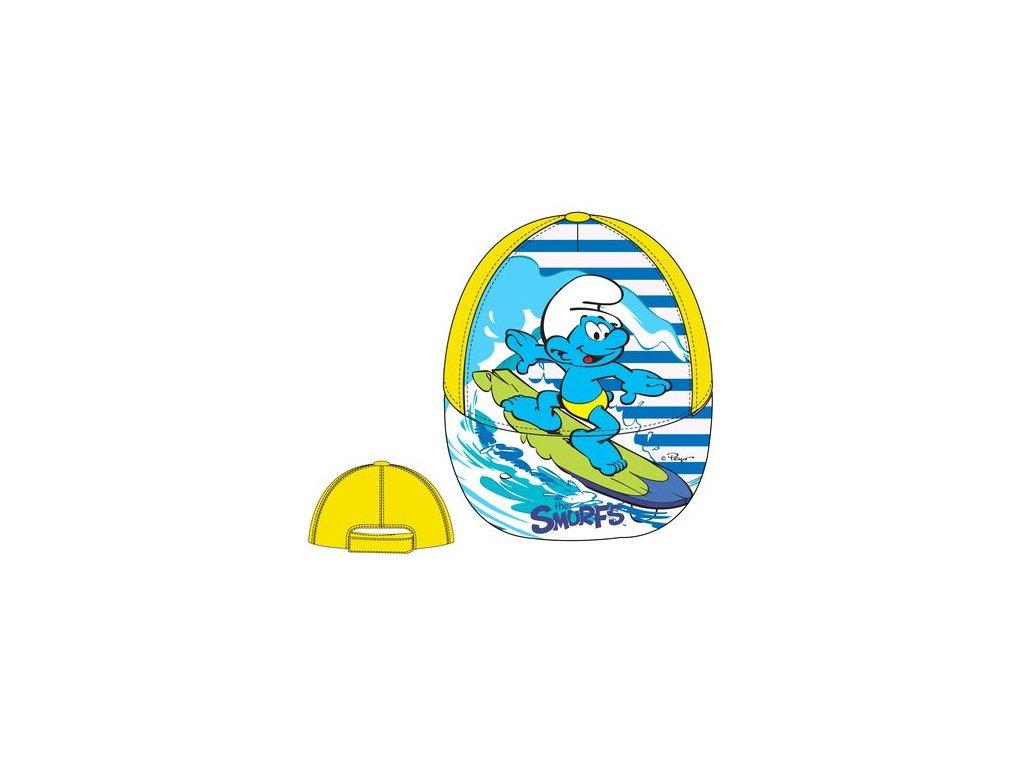 Šmoulové baseballová čepice žlutá