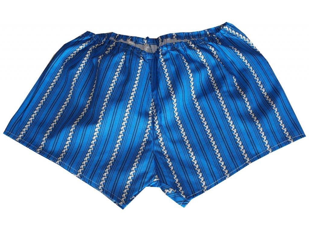 Trenýrky bavlněné modré s vlnkou model A