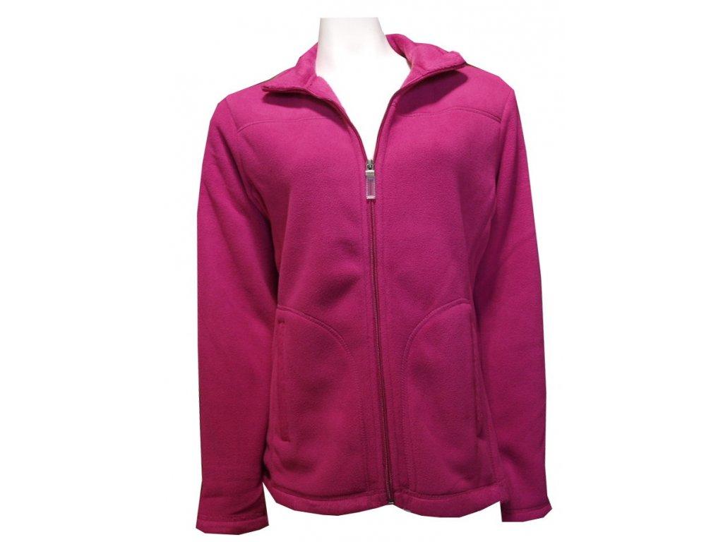 Mikina fleecová teplá fialová