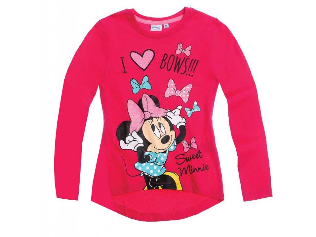 Minnie tričko růžové s dlouhým rukávem
