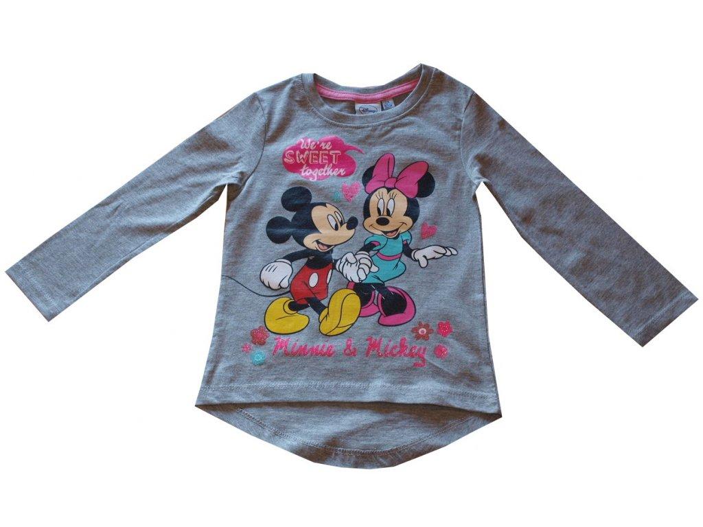 Minnie tričko šedé s dlouhým rukávem