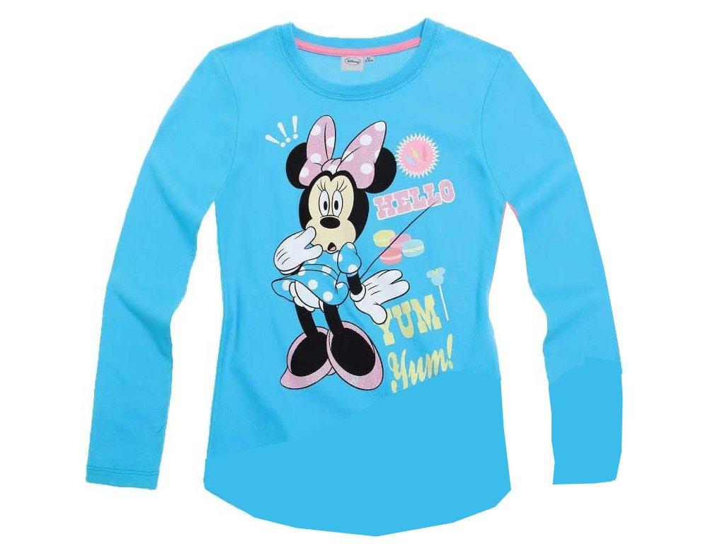 Minnie tričko tyrkysové s dlouhým rukávem