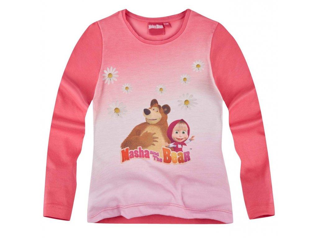Medvěd a Máša tričko růžové