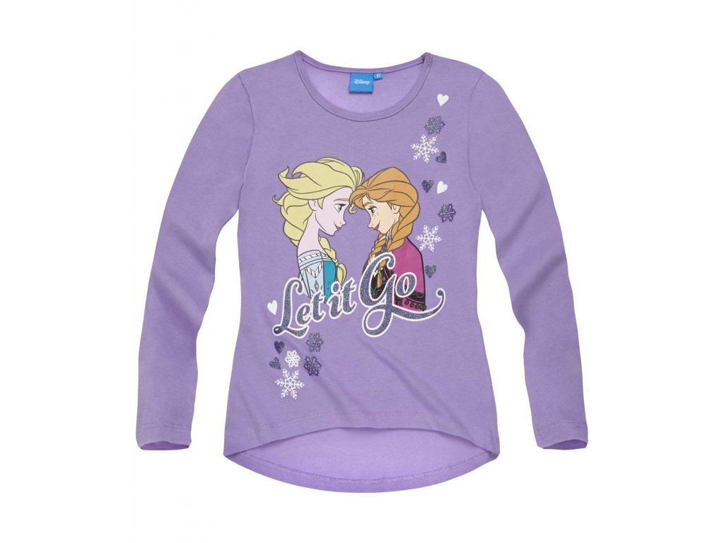 Frozen dívčí trička dlouhý rukáv