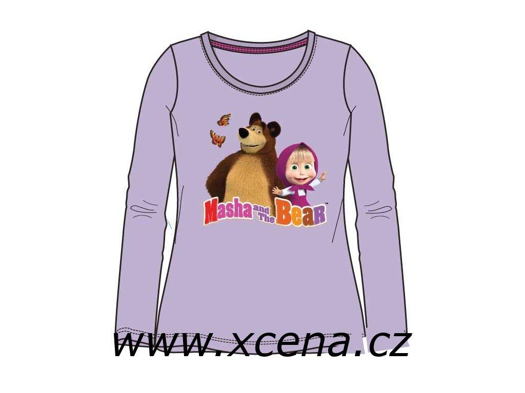 Máša a medvěd tričko dlouhý rukáv
