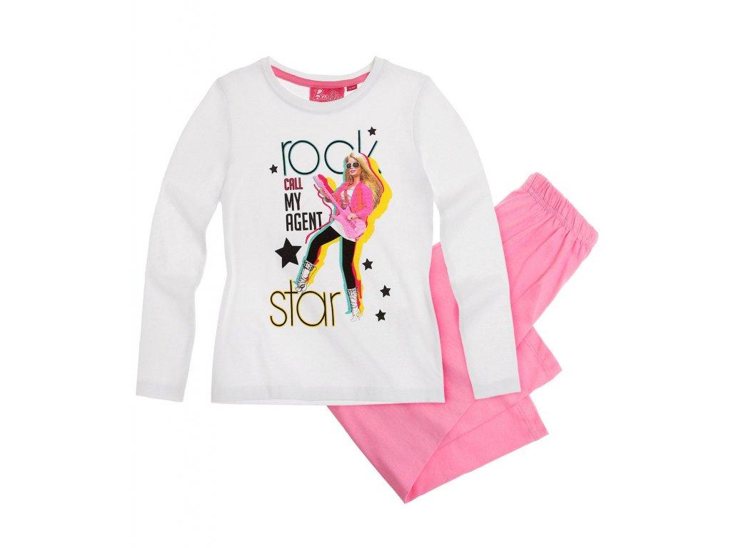 Barbie pyžama bavlněné bílé
