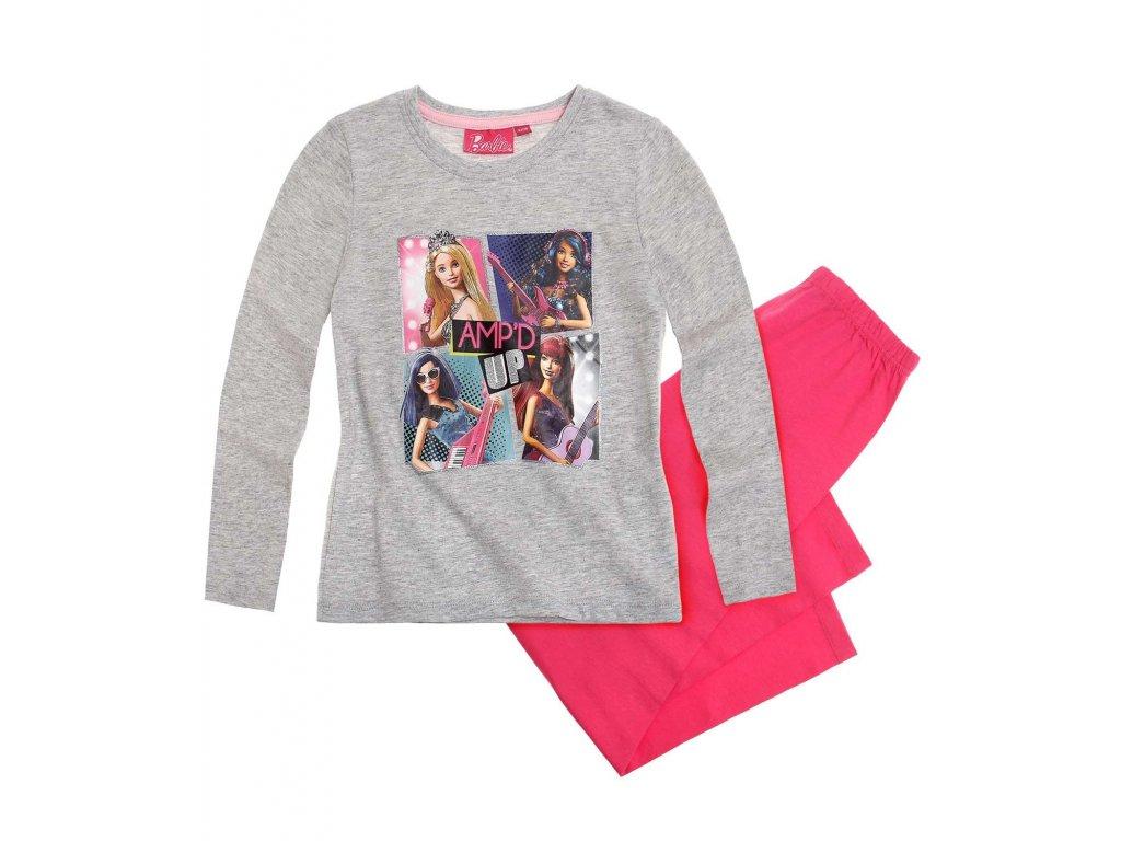 Barbie pyžamo šedé bavlněné