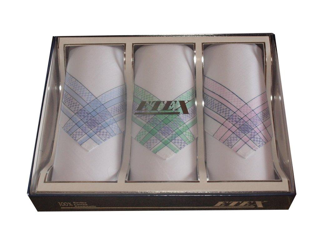 Dámské bavlněné kapesníky typ BB 30x30