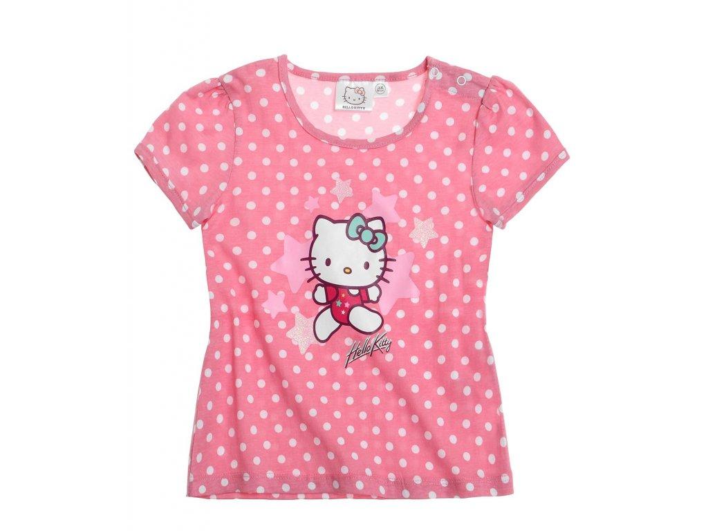 Bavlněné kojenecké triko Hello Kitty růžové
