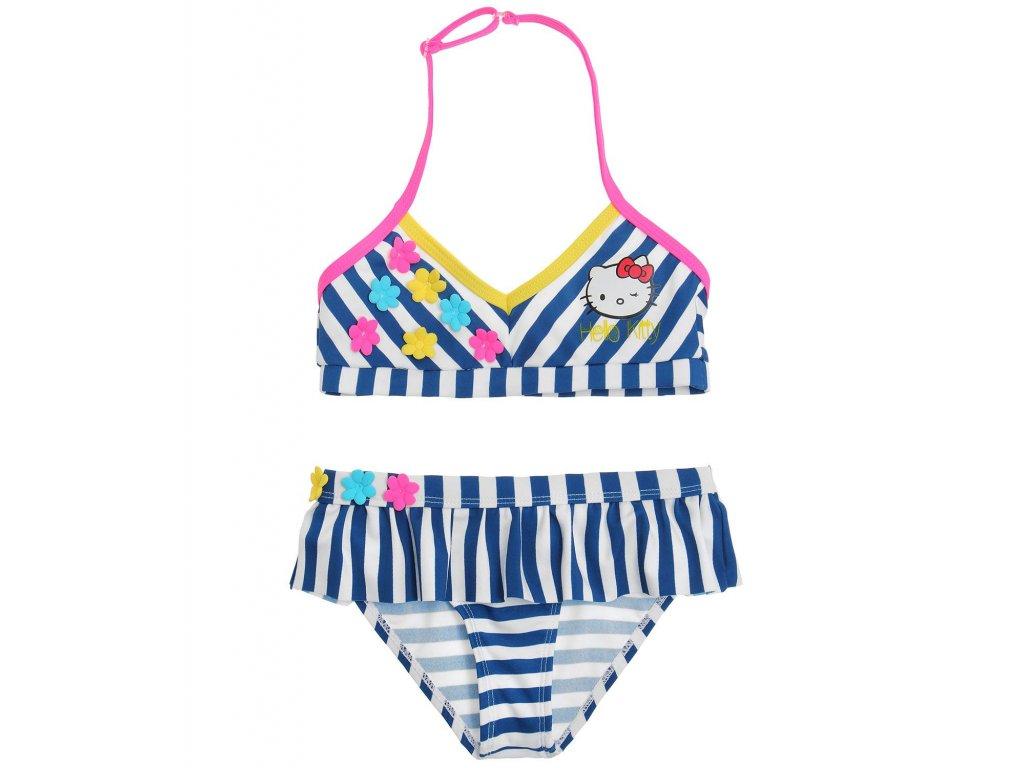 Hello Kitty plavky modrobílé