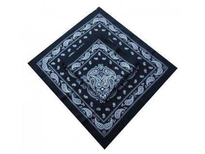 Bavlněný šátek černý