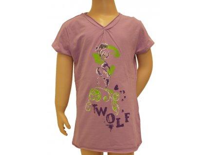 Dívčí tričko Wolf, krátký rukáv světle fialová