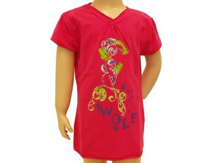 Dívčí trička světle červené