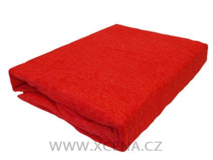 Prostěradla froté jasně červené 90/200 cm