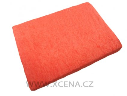 Prostěradla froté tmavě oranžové 90/200 cm