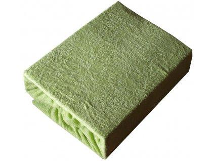 Prostěradla froté dvojlůžko typ 180/200 cm zelené