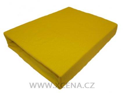 Prostěradla bavlněné žluté 90/200 cm