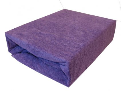 Froté prostěradlo fialové typ 180/200 cm