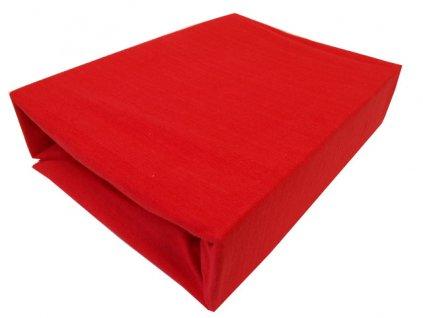 Prostěradlo jersey červené 180x200cm