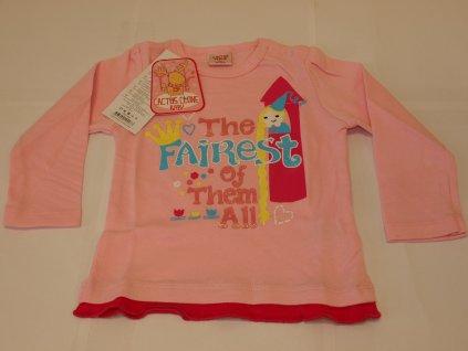 Tričko s dlouhým rukávem růžové
