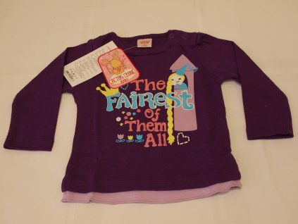 Dívčí tričko s dlouhým rukávem fialové