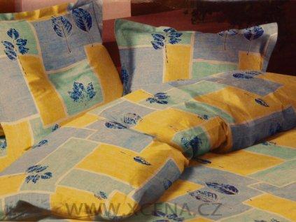Povlečení bavlna 140x200, 70x90cm modré