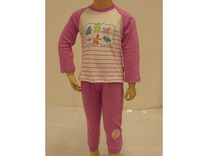 Dívčí pyžamo fialovobílé