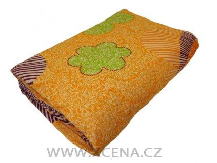 Povlečení bavlna 140x200cm,70x90 meruňkové