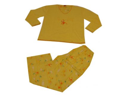 Dětské pyžamo, žluté