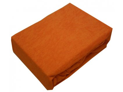 Prostěradlo froté tmavě oranžové 200x220