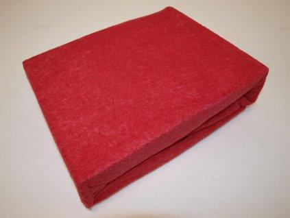 Prostěradlo froté červené 200/220 cm