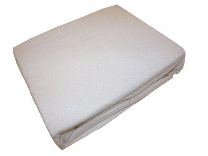 Prostěradlo froté prodloužené 200/220 cm bílé