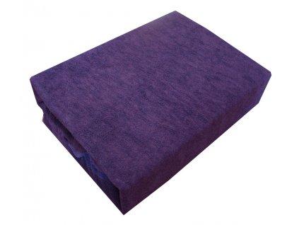 Prostěradlo prodloužené fialové 200x220