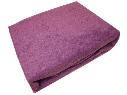 Prostěradla froté 140/200 cm fialové