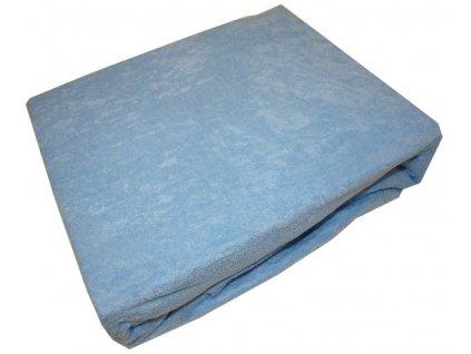 Prostěradlo froté 140/200 cm modré
