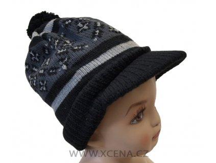 Zimní čepice s kšiltem šedá