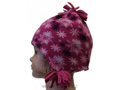 Dívčí čepice zimní, podšitá růžová