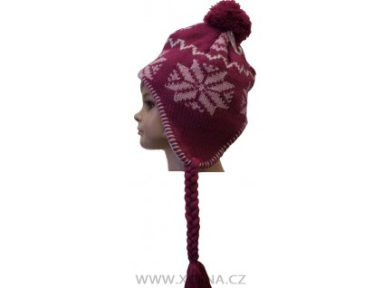 Zimní čepice, podšitá fleecem růžová